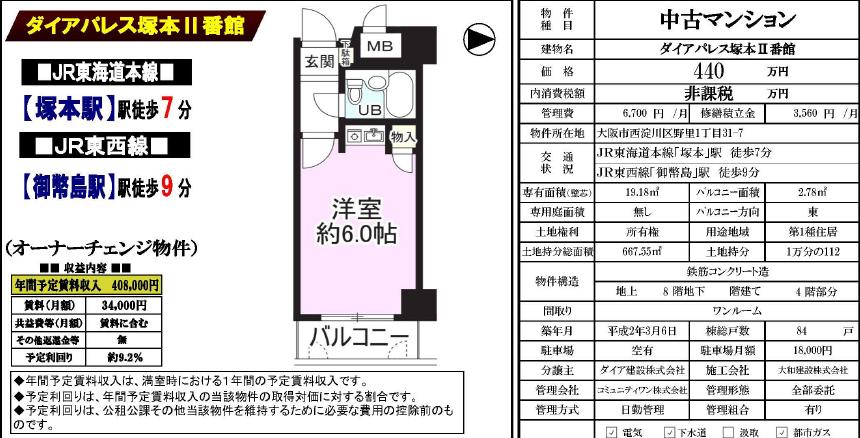 OB- 大阪塚本(440)