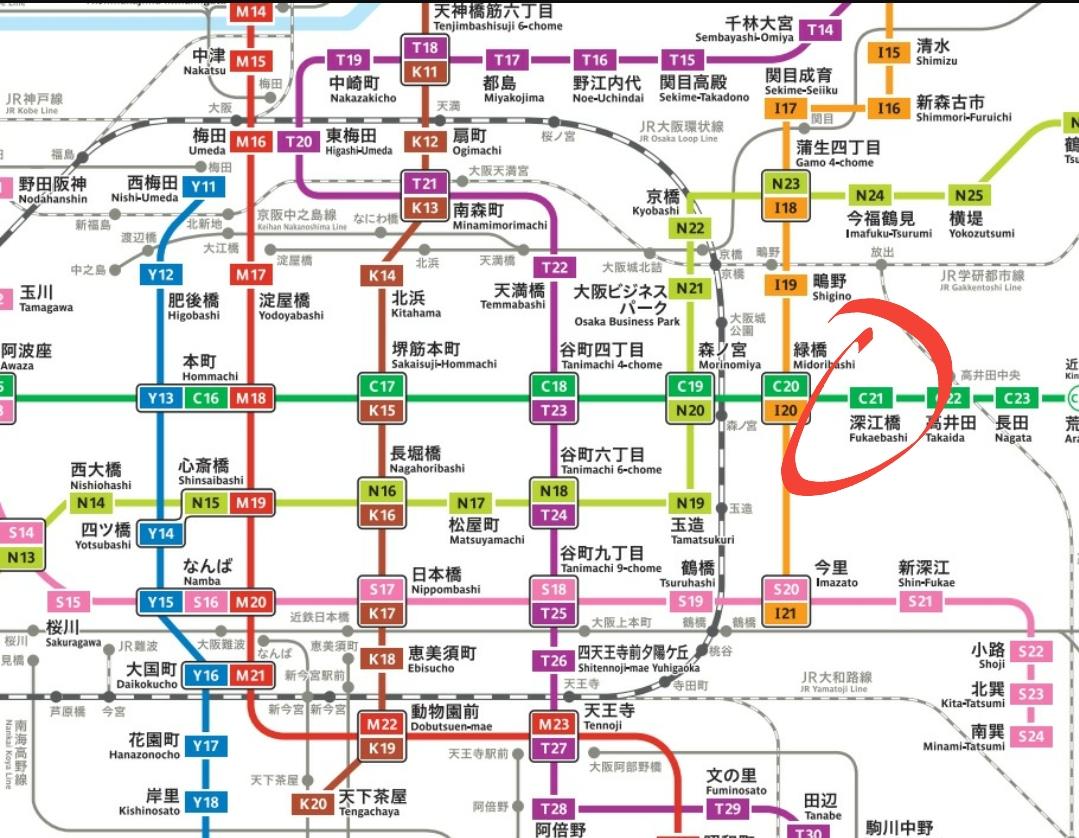 大阪市, 中央線步90秒,實8.52%