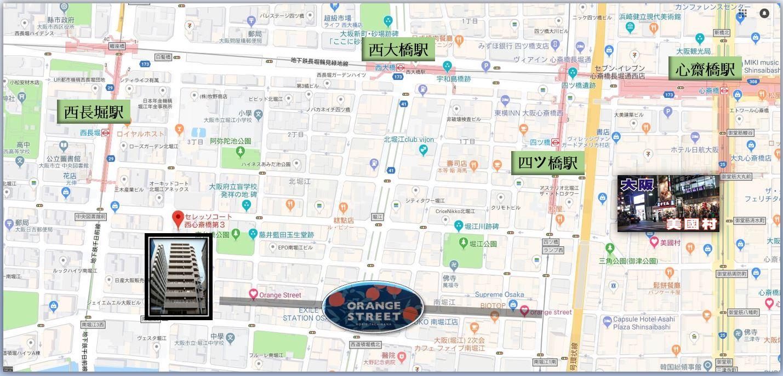 80227 セレッソコート西心斎橋第3MAP